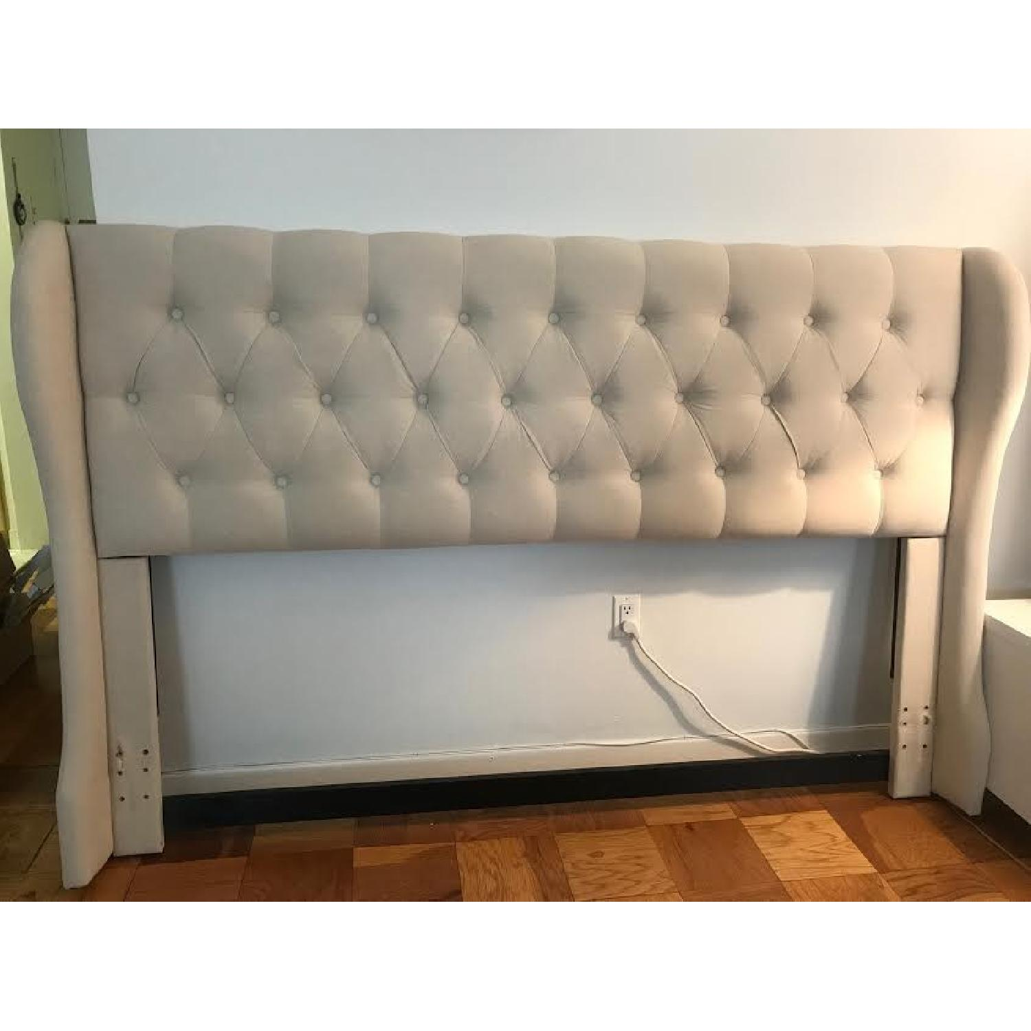Coaster Murietta Beige Upholstered King Headboard - image-0