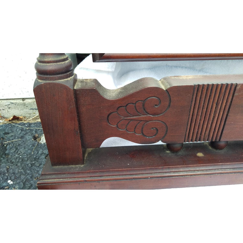 Antique Adjustable Circa 1880s Mahogany Wood Wall Mirror - image-4