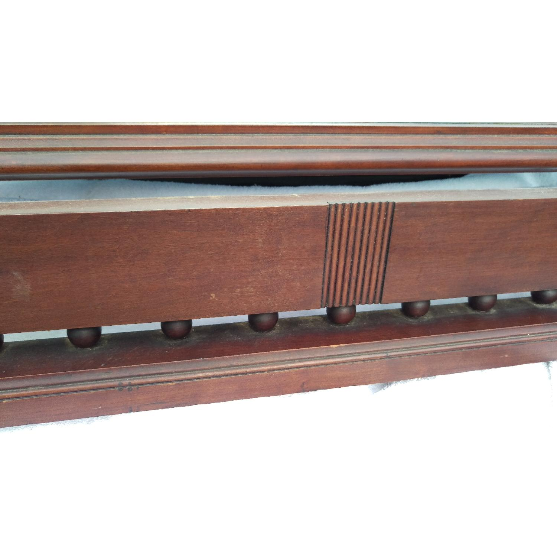 Antique Adjustable Circa 1880s Mahogany Wood Wall Mirror-5