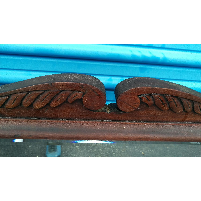 Antique Adjustable Circa 1880s Mahogany Wood Wall Mirror - image-8