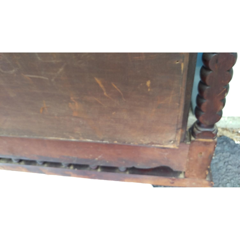 Antique Adjustable Circa 1880s Mahogany Wood Wall Mirror-10