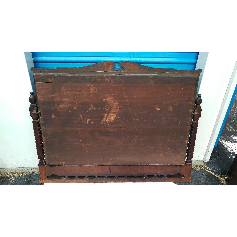 Antique Adjustable Circa 1880s Mahogany Wood Wall Mirror-11