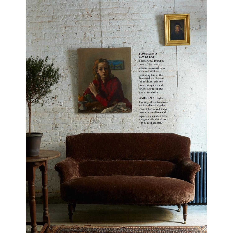 Cisco John Derian Custom Handmade Italian Velvet Loveseat - image-4