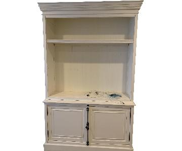 Restoration Hardware White Solid Wood Media Cabinet
