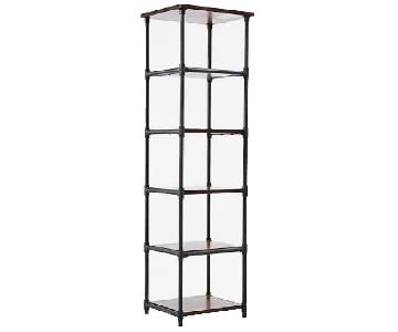 West Elm Pipe Narrow Bookcases