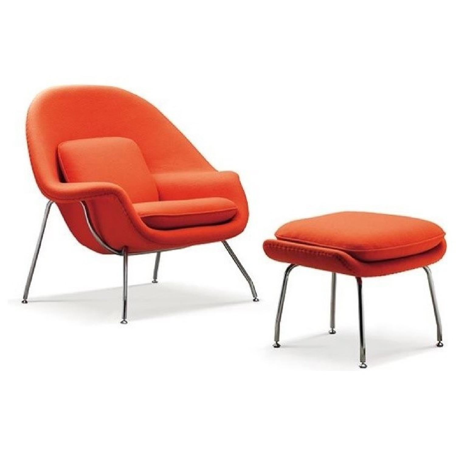 Rove Concepts Womb Chair & Ottoman - image-0