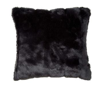 Madura Black Fur Pillow Cases w/ Pillow Inserts