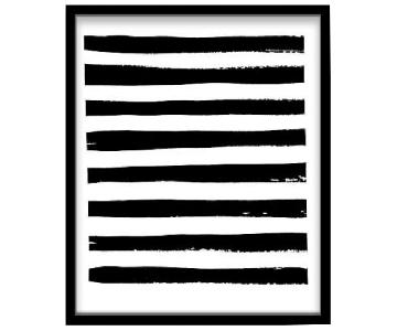 West Elm Arts Capsule Framed Print - Black + White Stroke