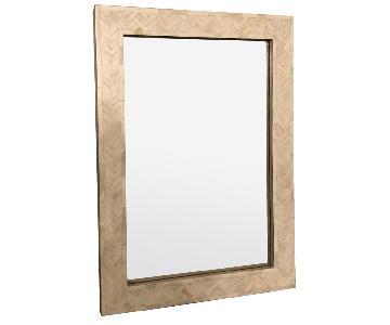 West Elm Parsons Bone Inlay Small Wall Mirror