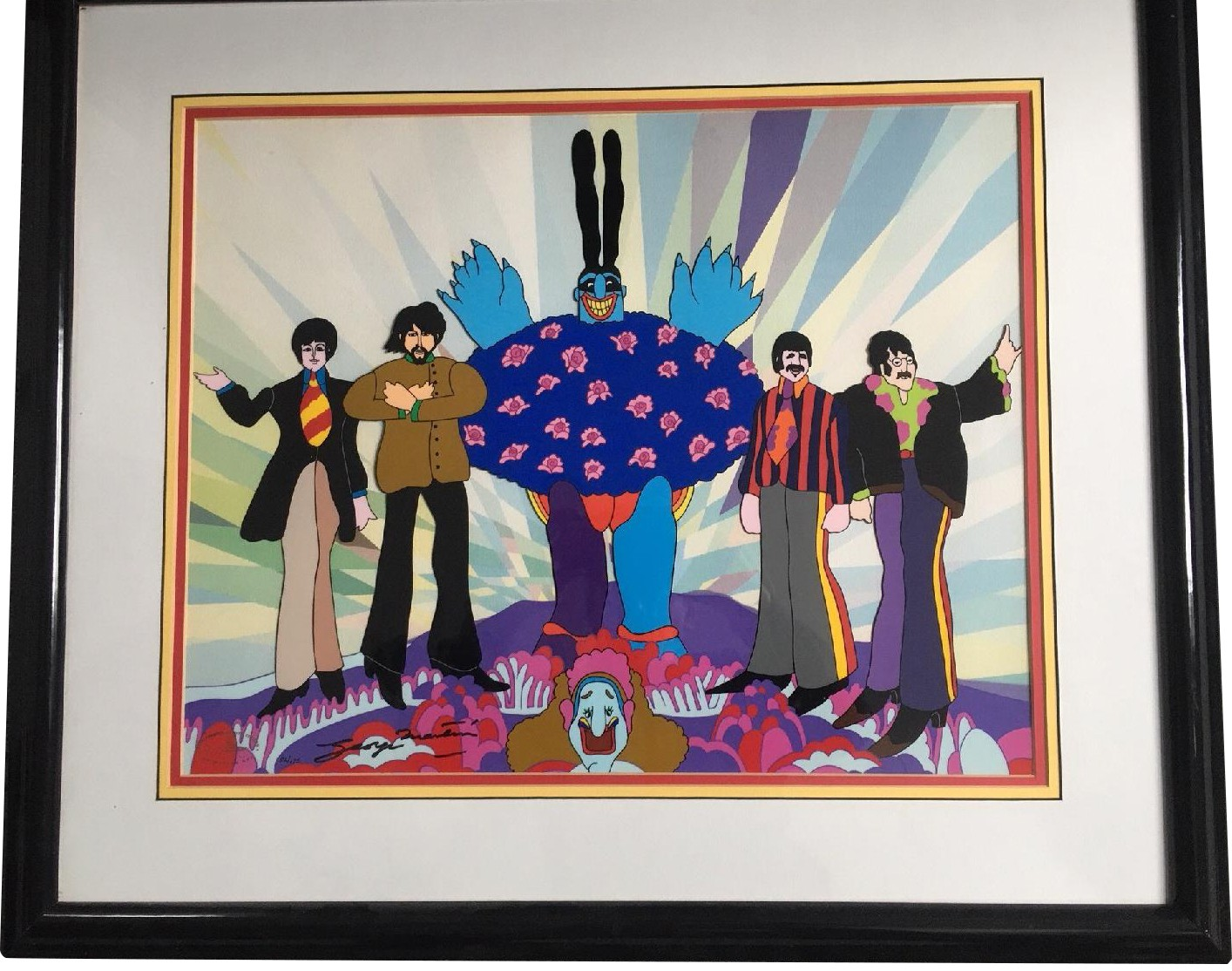 Animation Arts Beatles Yellow Submarine Cel