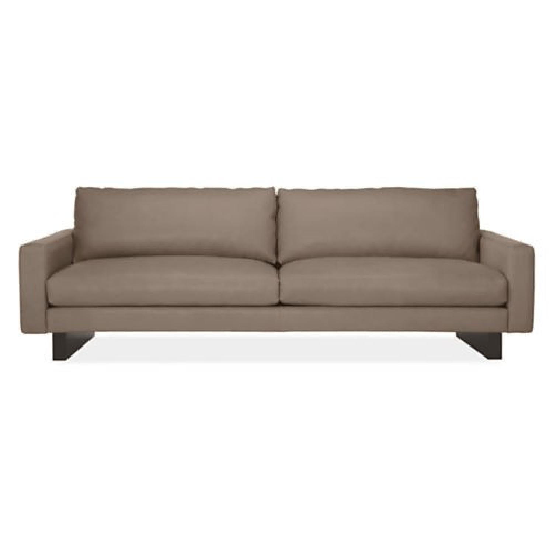 Room & Board Hess Leather Sofa + 2 Ottomans - AptDeco