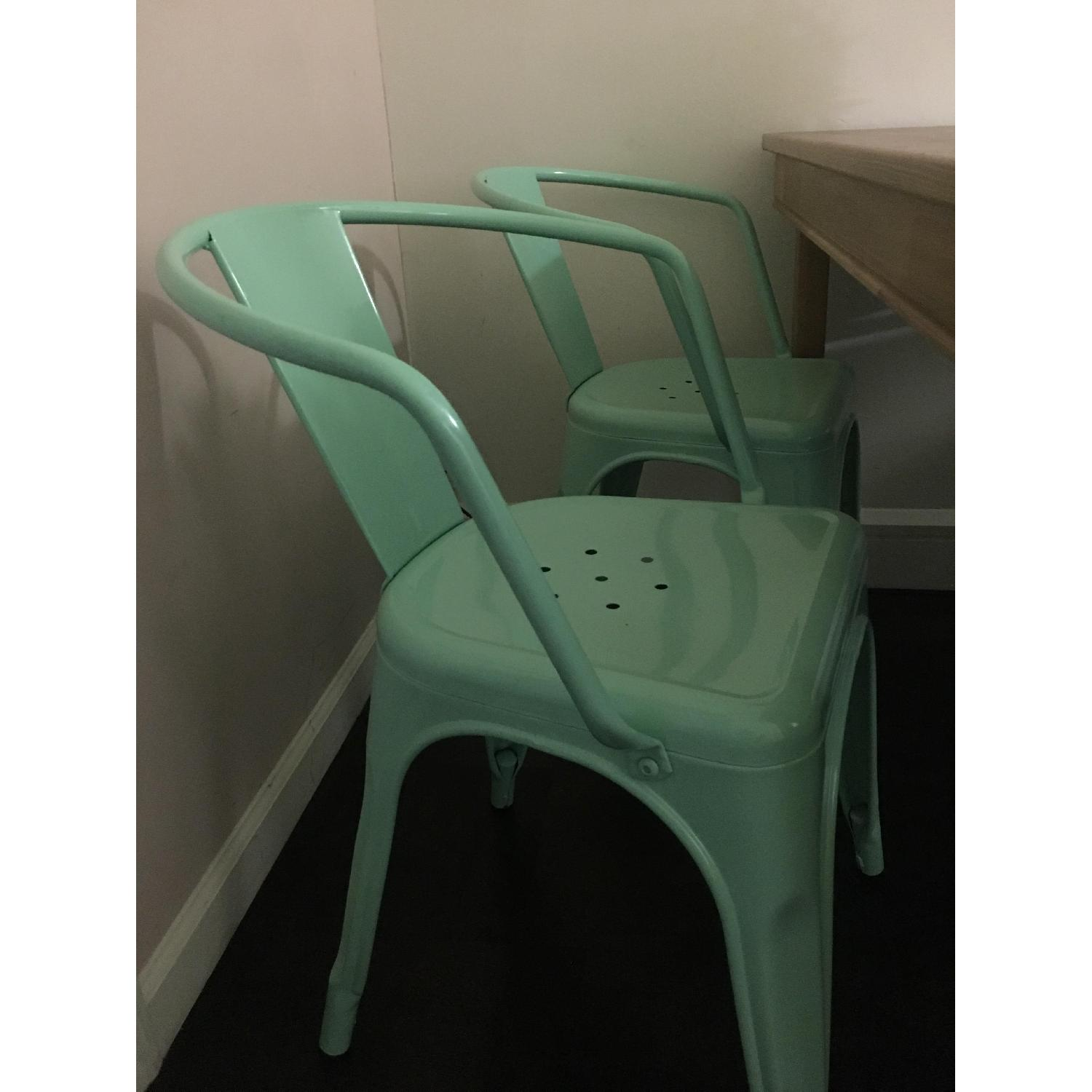 Target Carlisle Metal Dining Chairs in Mint Green-0