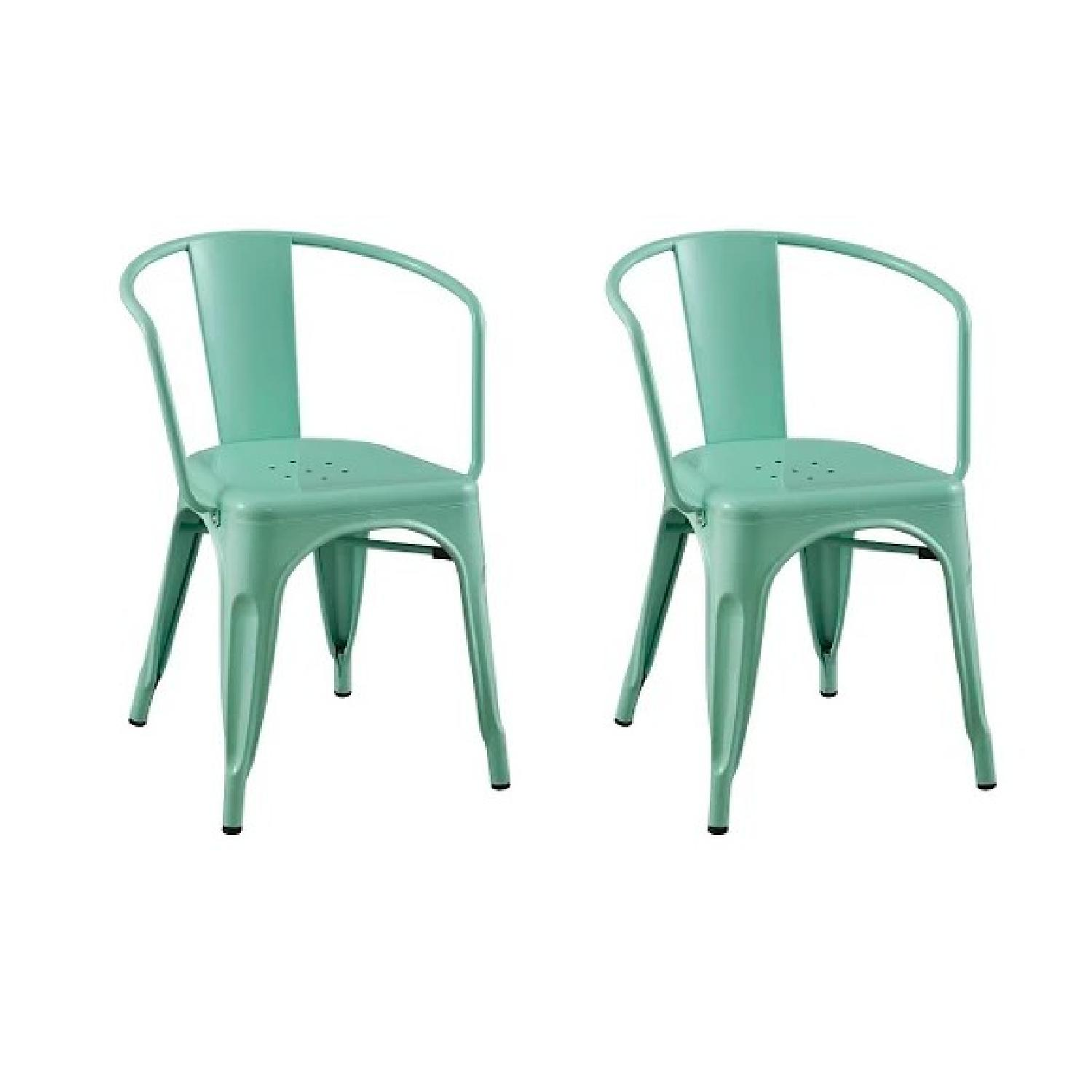 Target Carlisle Metal Dining Chairs in Mint Green-2