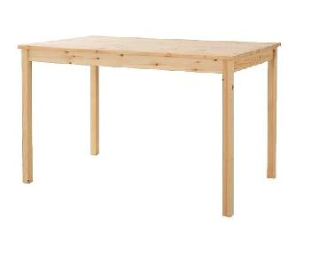 Ikea Ingo Natural Pinewood Dining Table