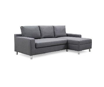 Wrought Studio Falgoust Grey Sleeper Sectional Sofa