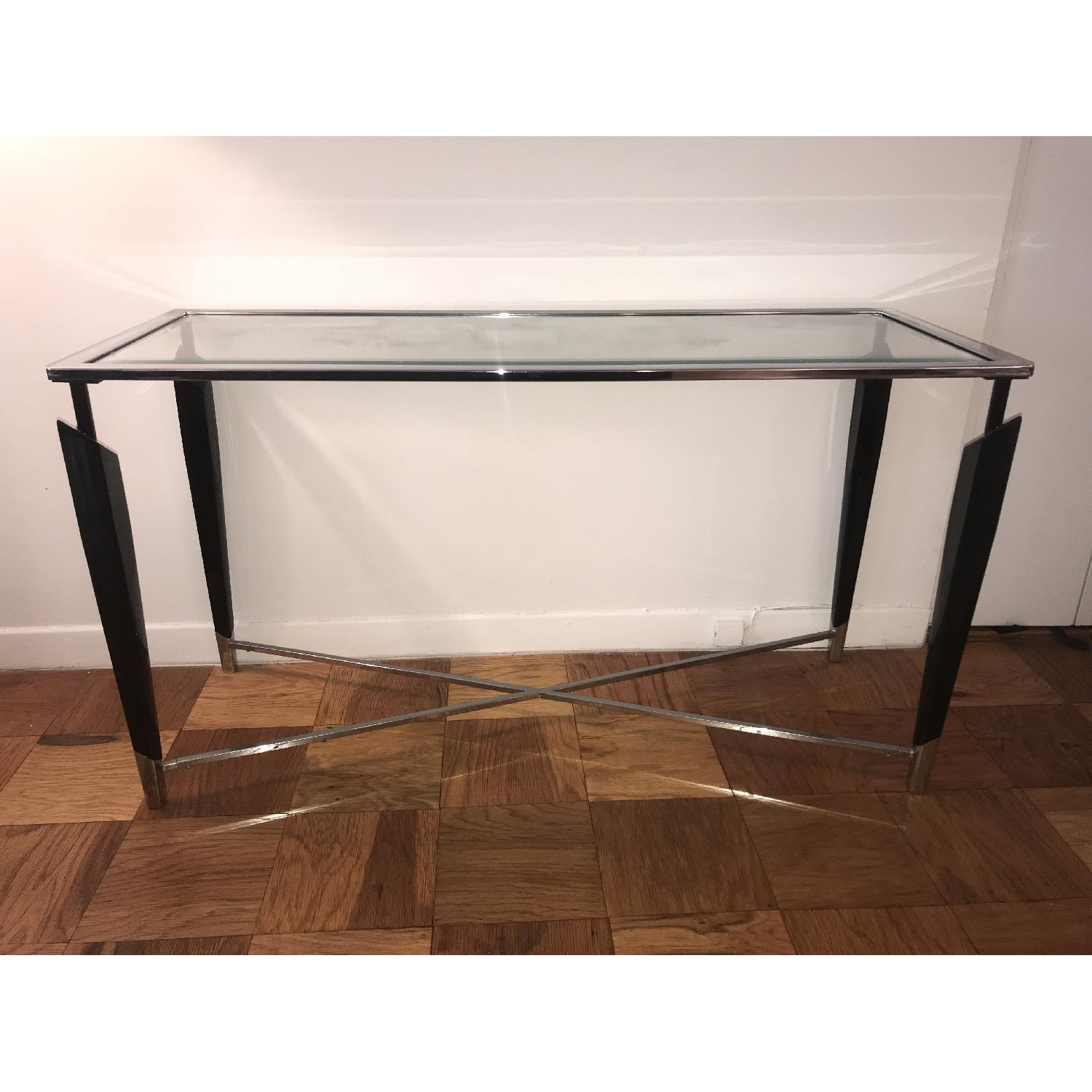 Home Goods Glass Console Table - image-1