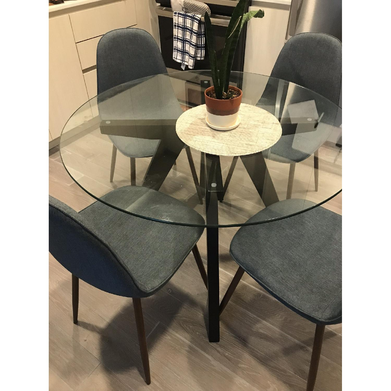 Vega Round Glass Dining Table-0