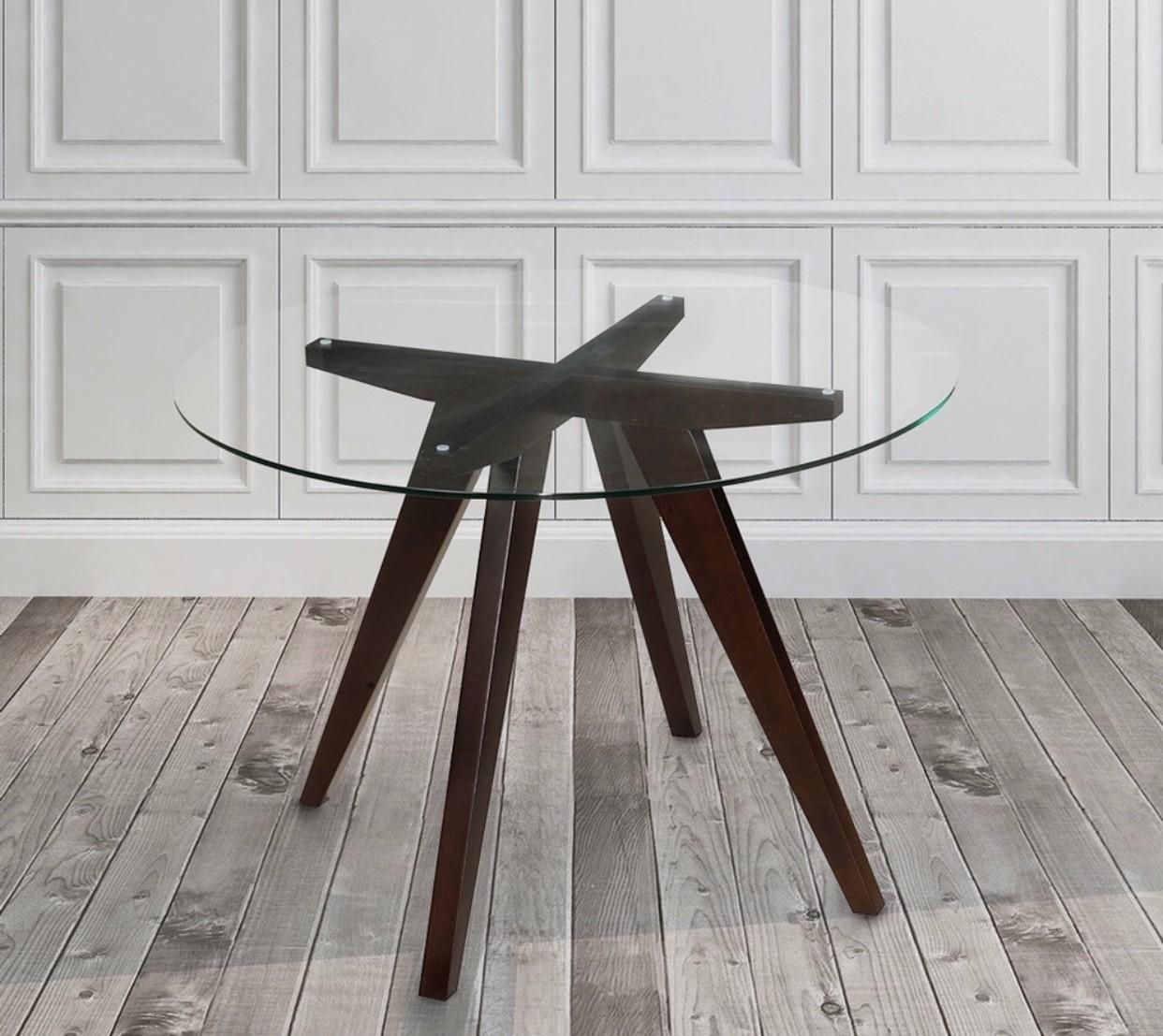 Vega Round Glass Dining Table