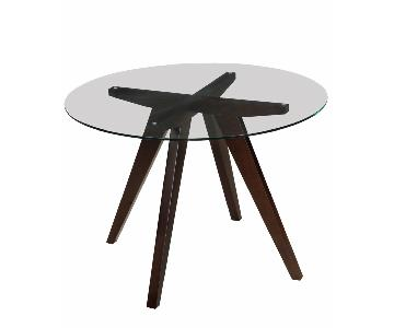 Vega Round Glass Dining Table