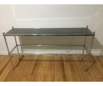 Chrome & Glass Two Tier Console Table
