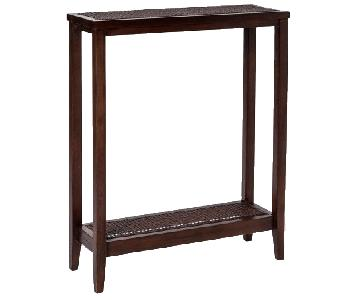 Target Wood & Wicker Entry Accent Table
