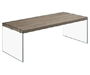 Monarch Furniture Dark Taupe Coffee Table