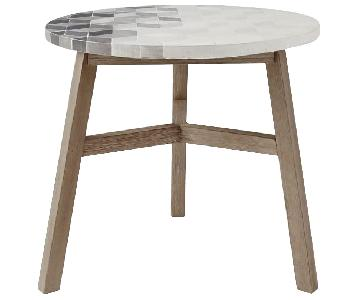 West Elm Isometric Concrete Mosaic Tiled Bistro Table