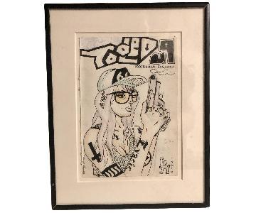 Original Comic Book Art - Ink/Watercolor