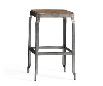 Pottery Barn Galvanized Counter Height Bar Stool