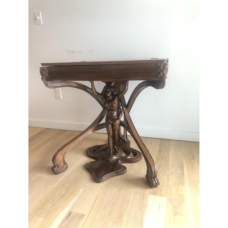 R. Carabin 1880 - 1890 French Art Nouveau Hand Made Desk-1