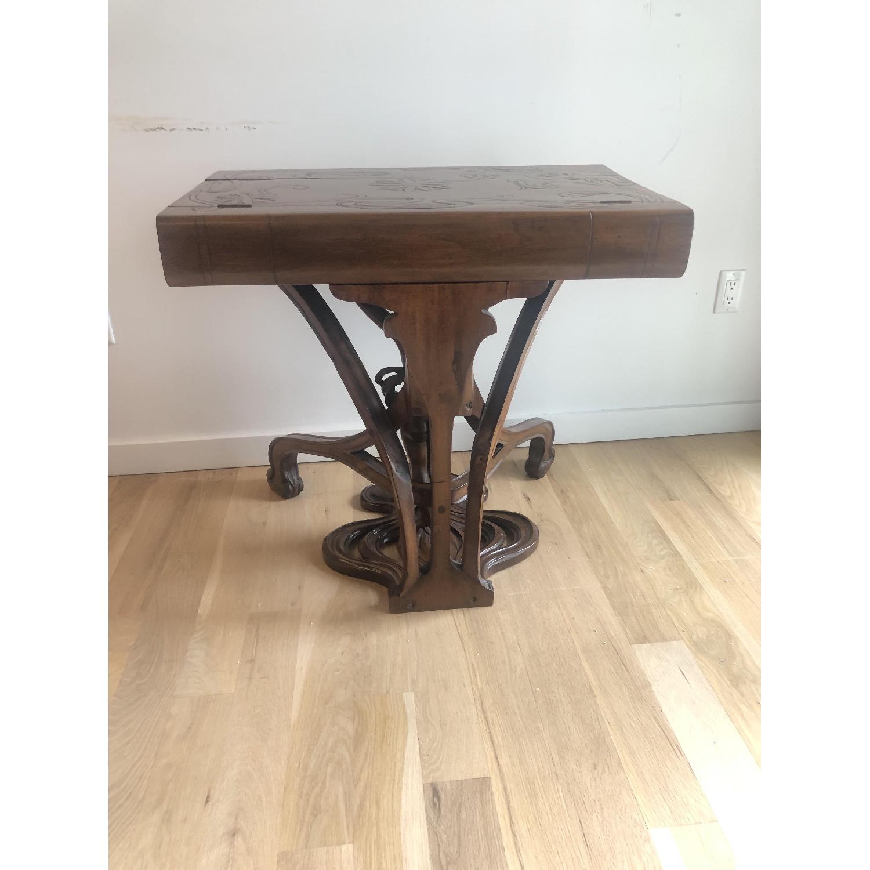 R. Carabin 1880 - 1890 French Art Nouveau Hand Made Desk-3