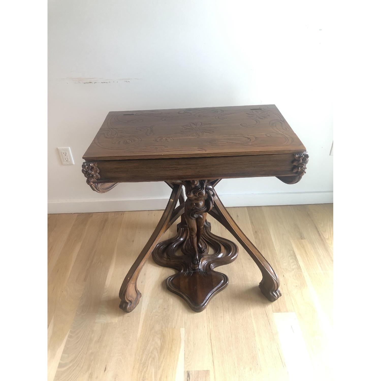 R. Carabin 1880 - 1890 French Art Nouveau Hand Made Desk-4