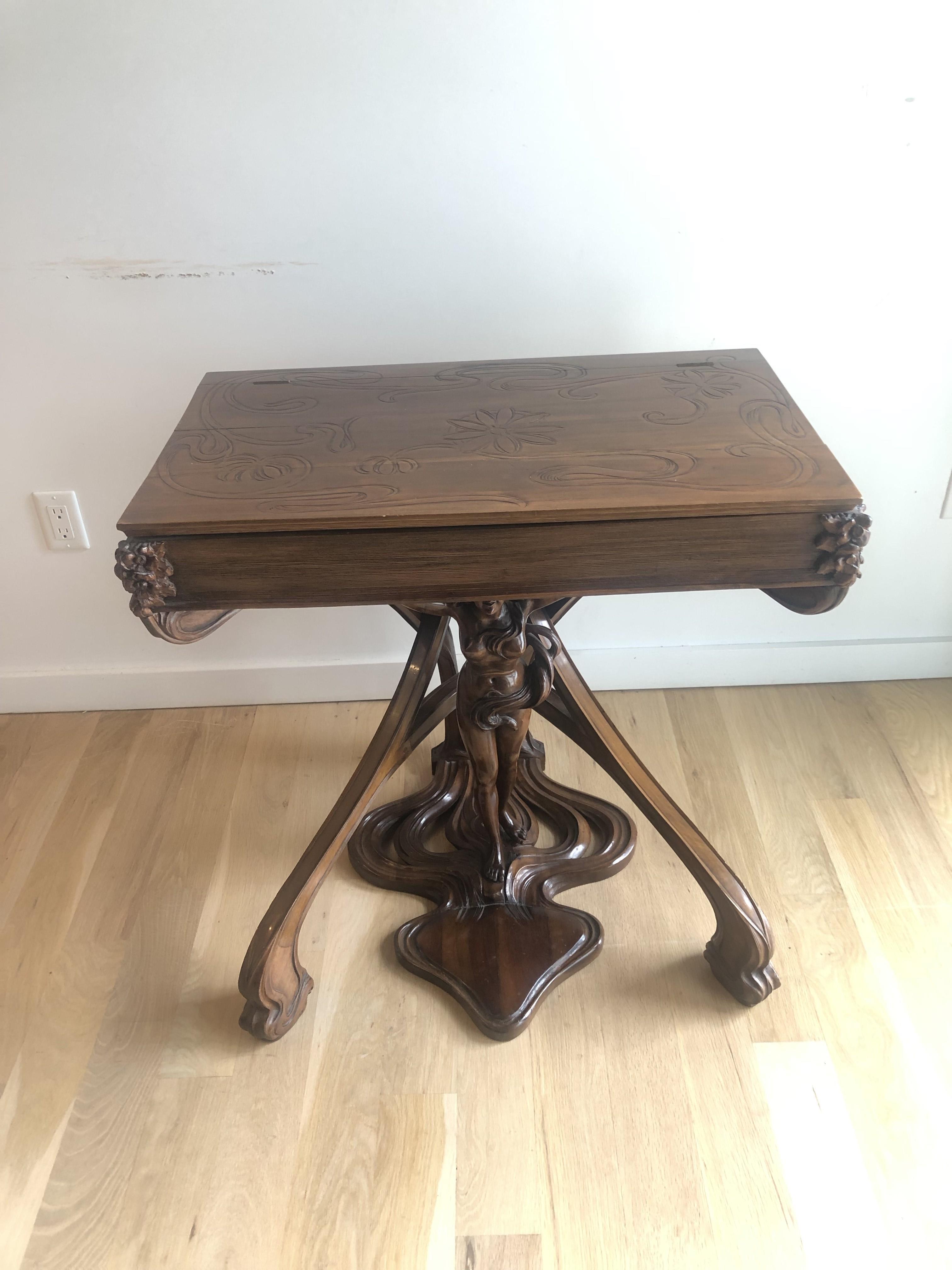 R. Carabin 1880 - 1890 French Art Nouveau Hand Made Desk