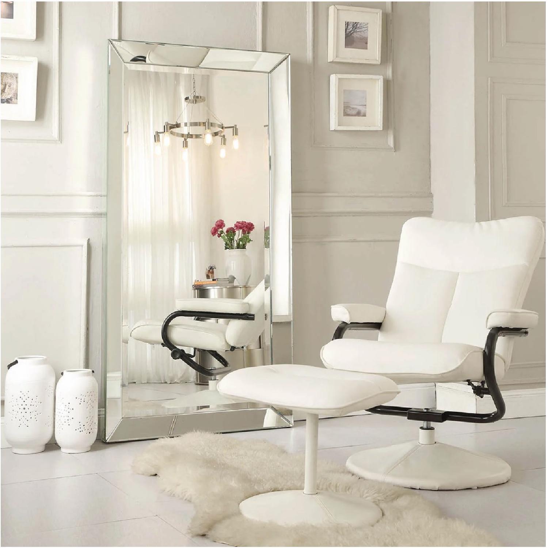 InspireQ Omni Beveled Rectangular Floor Mirror - image-1