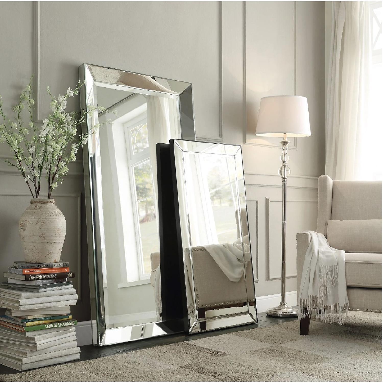 InspireQ Omni Beveled Rectangular Floor Mirror - image-2