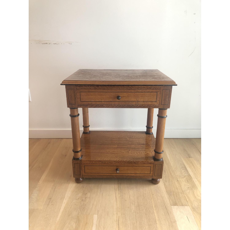 Custom Made Wood Side Table-0