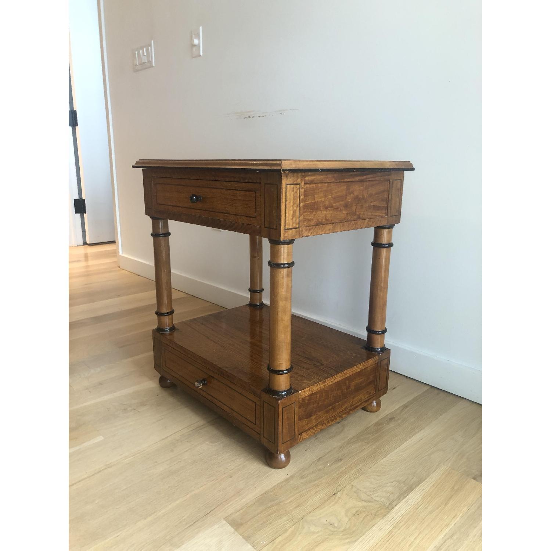 Custom Made Wood Side Table-1