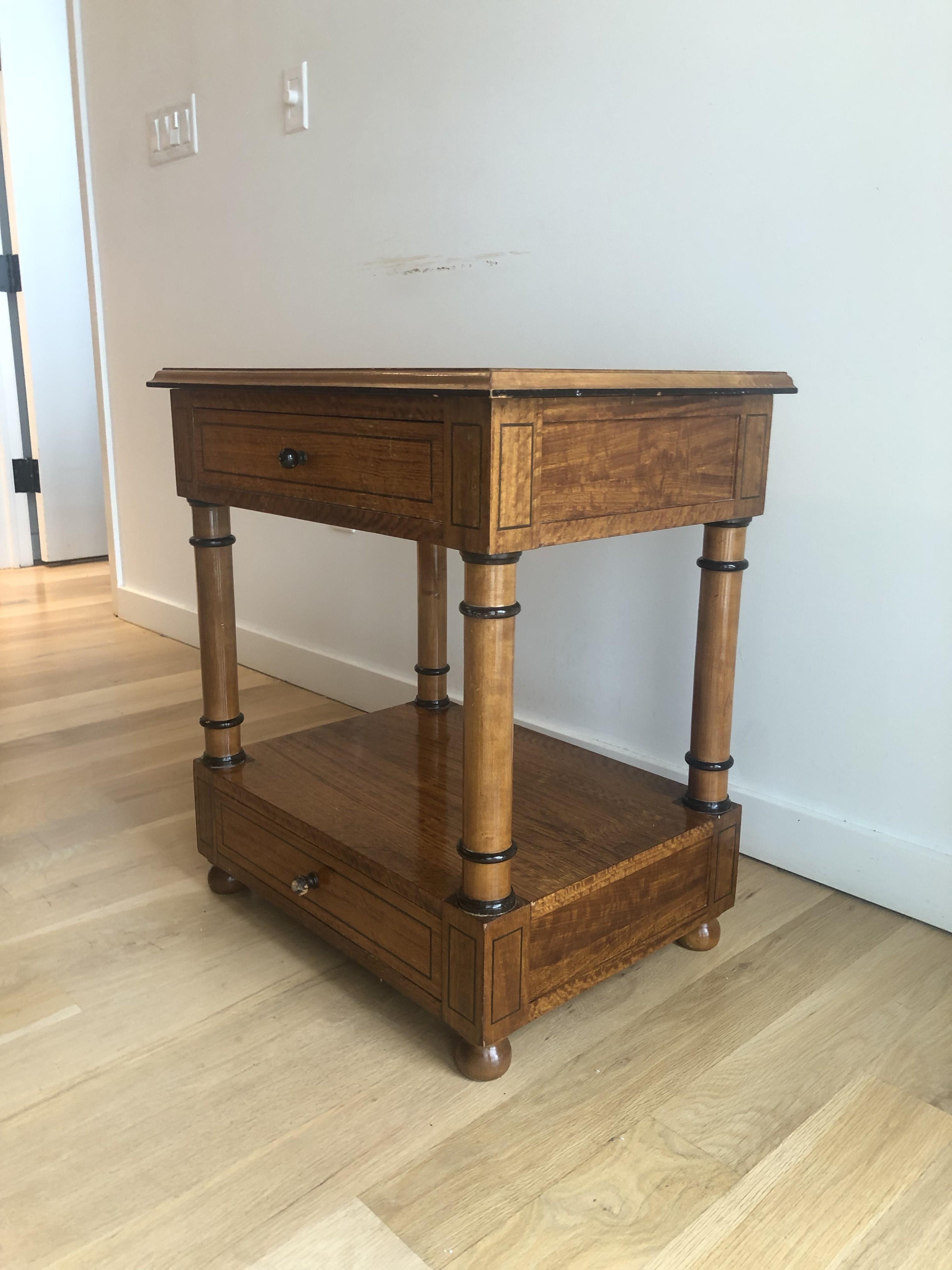 Custom Made Wood Side Table