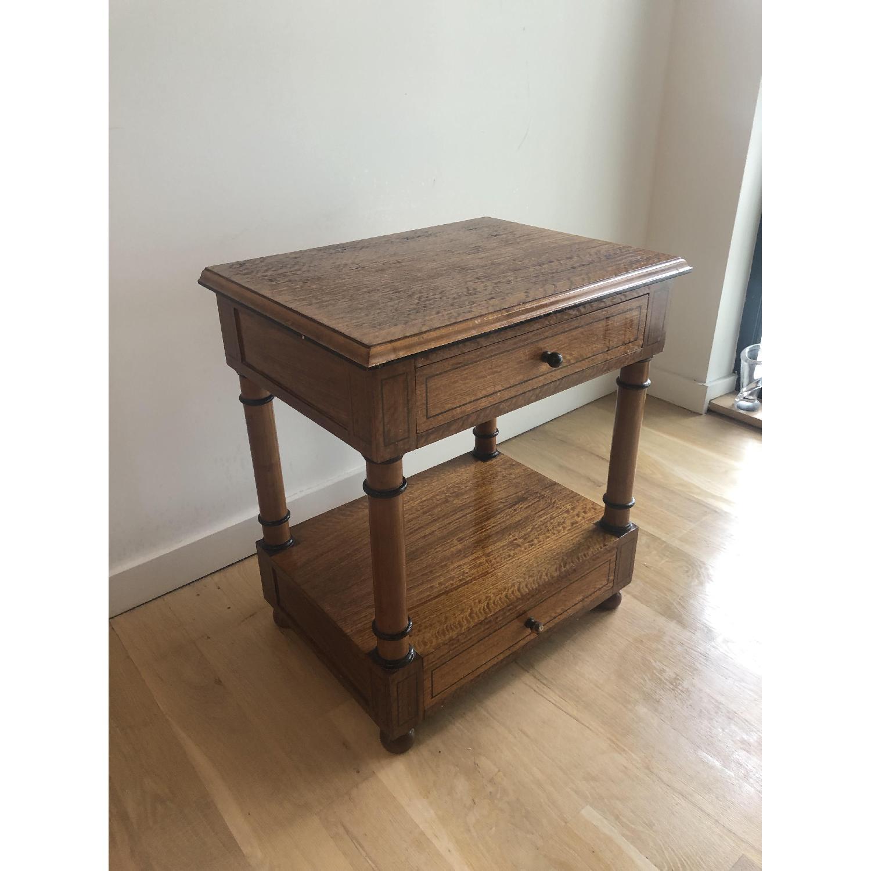 Custom Made Wood Side Table-2