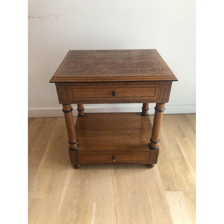 Custom Made Wood Side Table-3