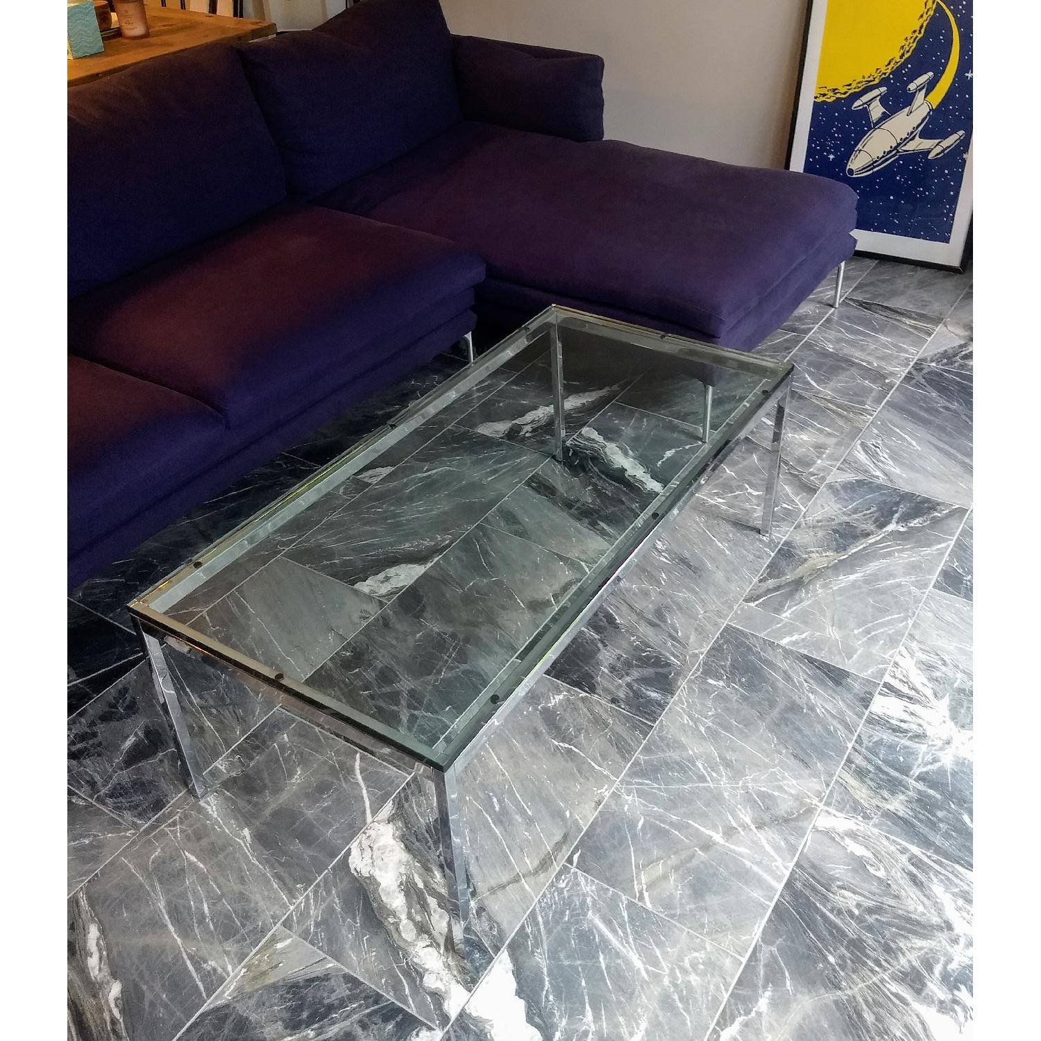 Florence Knoll Glass Coffee Table - image-1