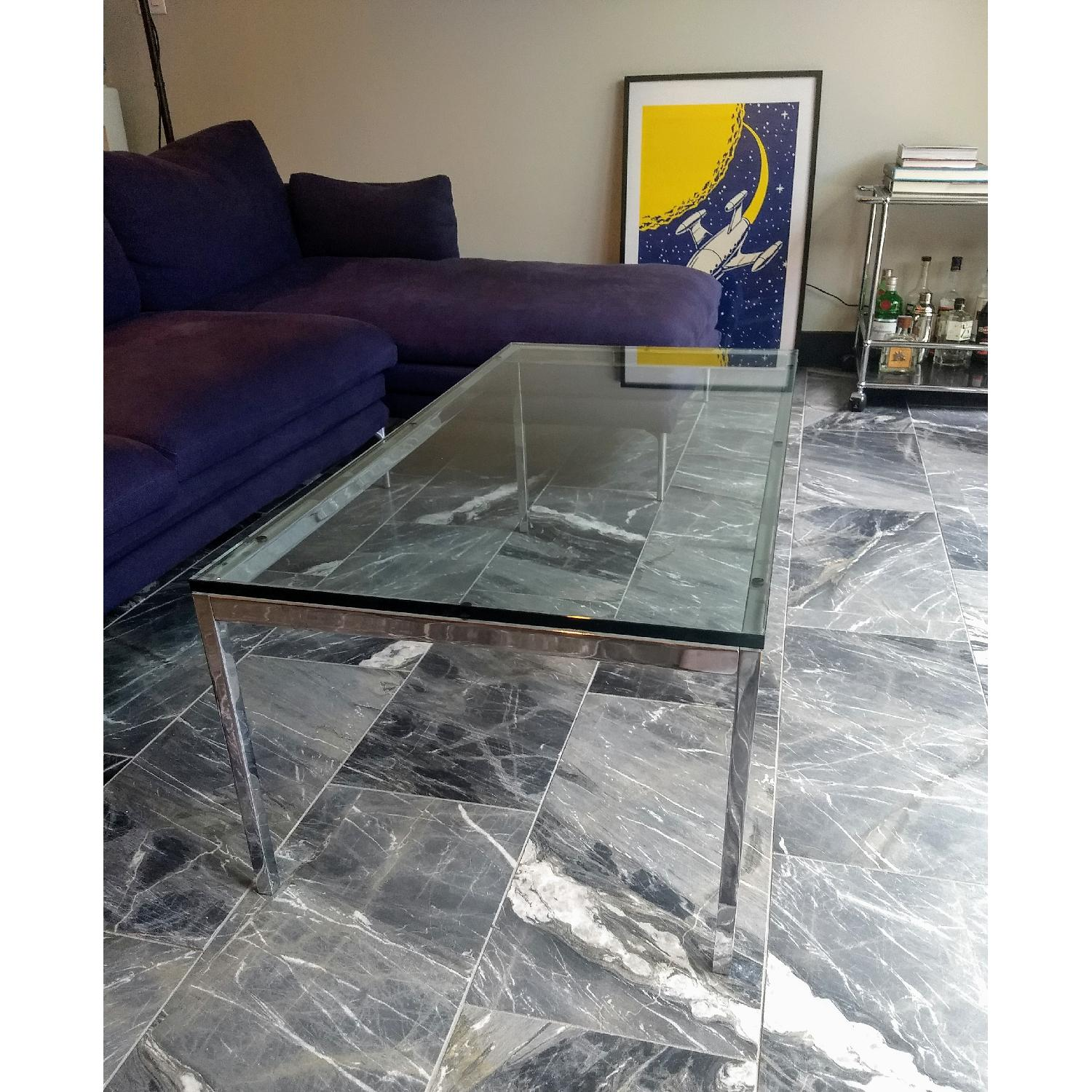 Florence Knoll Glass Coffee Table - image-2