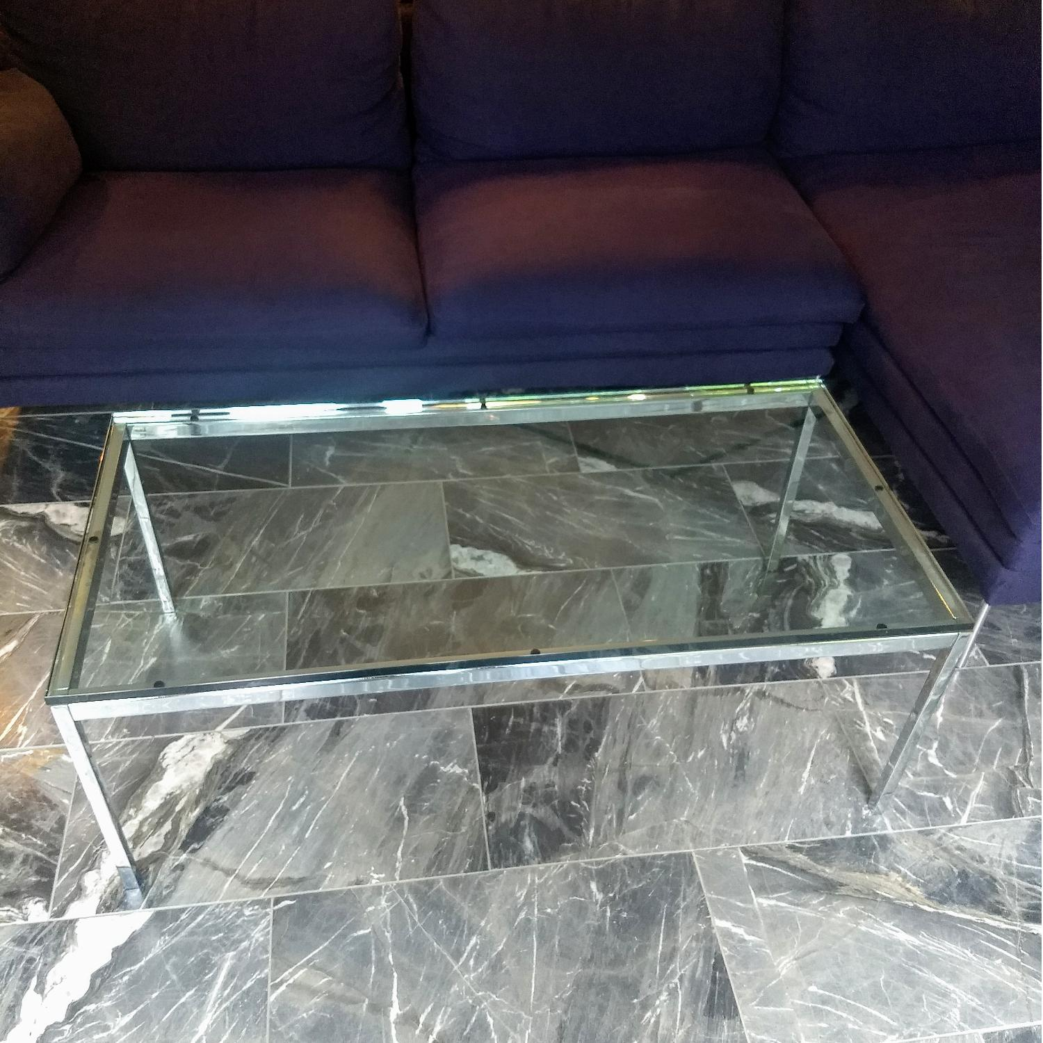 Florence Knoll Glass Coffee Table - image-3