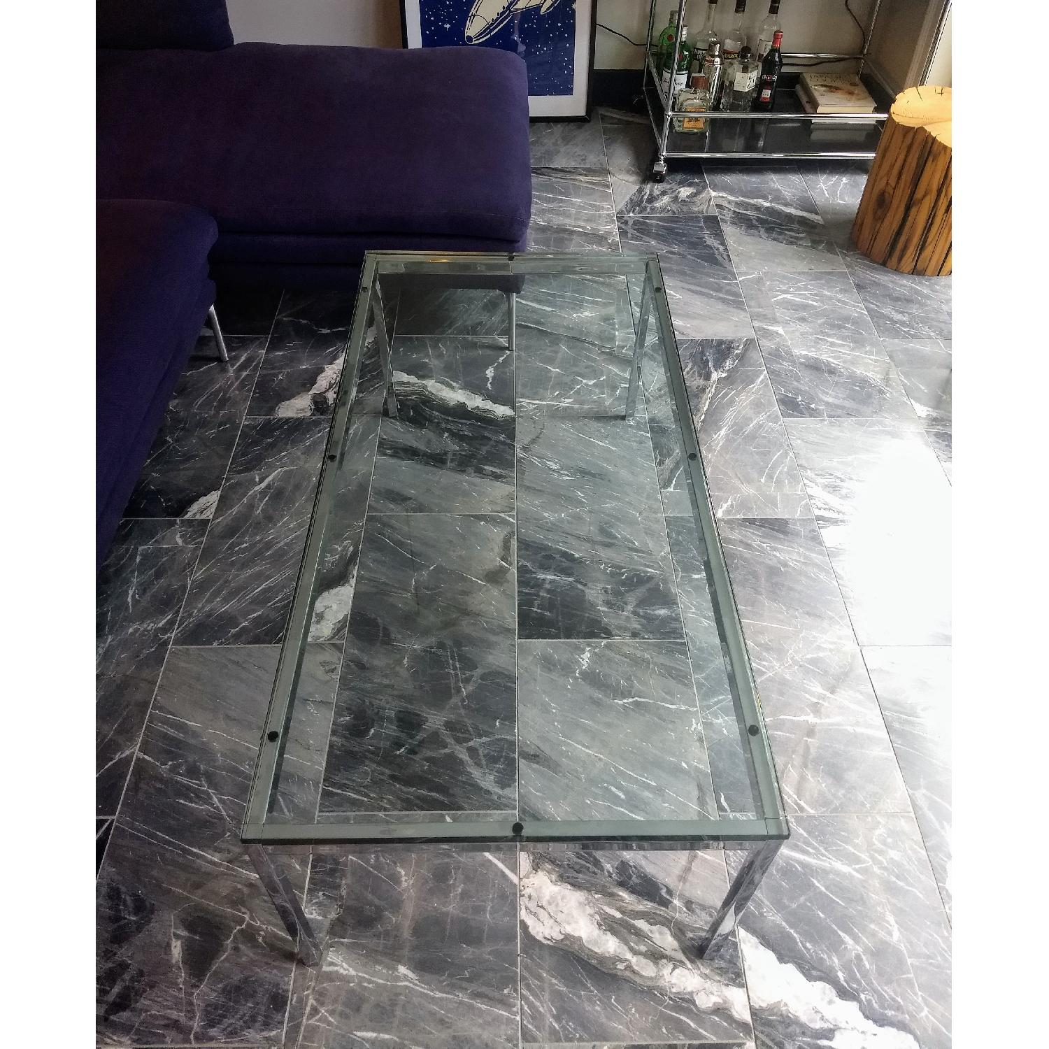 Florence Knoll Glass Coffee Table - image-4