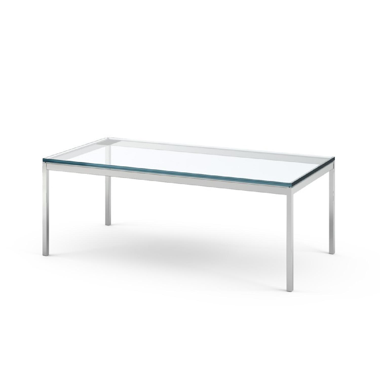 Florence Knoll Glass Coffee Table - image-0
