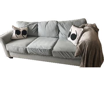 Sofa Solutions Custom Made Light Blue Sofa