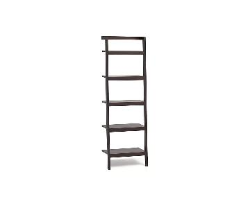 Crate & Barrel Sawyer Leaning Bookcases