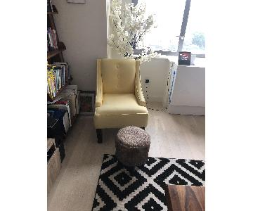 Contemporary Accent Chair in Yellow