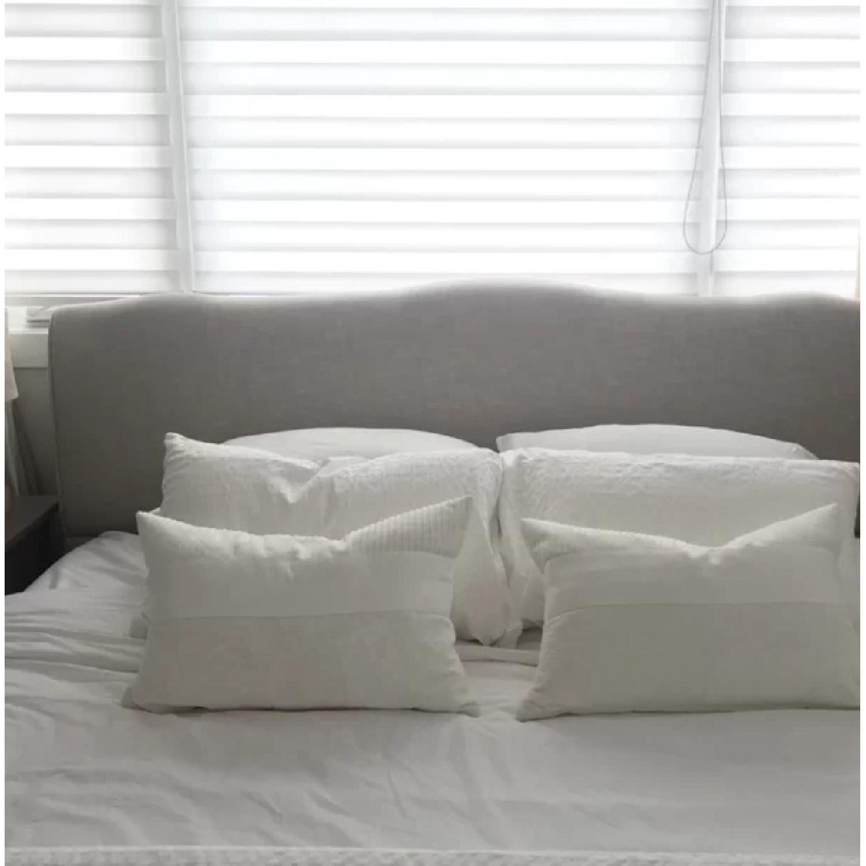 Lark Manor Sevan Beige Upholstered Bed - image-2