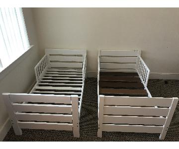 White Twin Size Toddler Bed